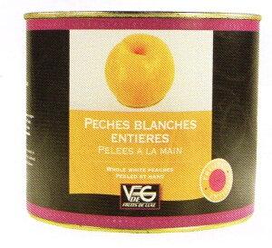 ペーシュ・ブランシュ(白桃)のシロップ漬け フランス ガスコーニュ産 2125g×6缶 業務用 入荷待ち