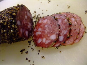 フランス産 ソーシソンセック 胡椒入り saussison sec au poivre 約200g サラミ