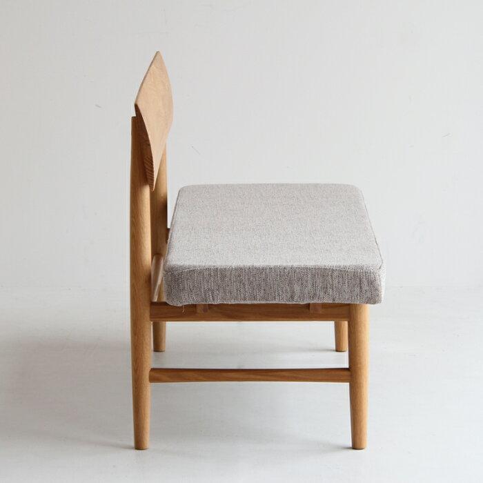【送料無料】ArbreBackrestBenchナチュラルベンチベンチソファー背もたれあり座面カバー洗濯可能洗えるカバーオーク材ウレタンインテリア北欧リビング家具