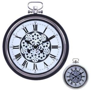 掛け時計 壁掛け時計 時計 壁掛け 掛時計 かけ時計 おしゃれ かわいい シンプル 北欧 アンティーク レトロ モダン スチール ガラス 懐中時計風 インテリア 時計 ウォールクロック ギフト プ