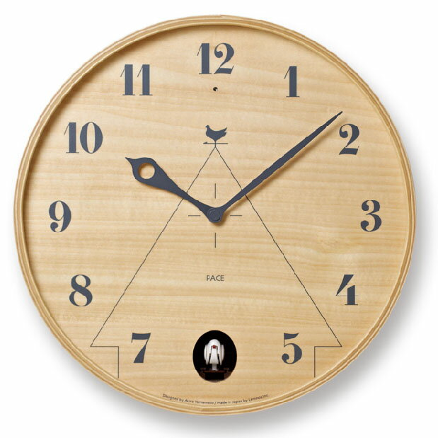 グラフィカルな巣箱のイメージしたお洒落時計 カッコー時計 鳩時計 壁掛け おしゃれ デザイン時計 とけい インテリア 雑貨★PACE 【02P03Dec16】