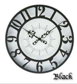 クラシカルなお洒落時計 高級感ある おしゃれ 壁掛け時計 丸時計 とけい お洒落 ブラック 黒 リビング時計 電池時計 ★Gisel CL-4960【02P03Dec16】