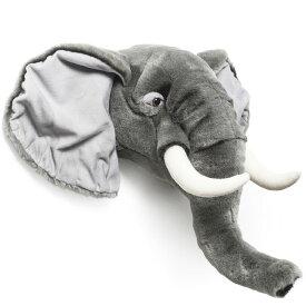 【可愛いアニマルの剥製風ぬいぐるみ】ゾウ 動物 剥製 ぬいぐるみ 顔 インテリア 壁掛け 飾り 雑貨 北欧 オシャレ プレゼント 贈り物 ★Animal Head Elephant【02P03Dec16】