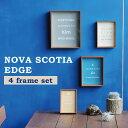 【4つのフレームがセットに】 写真立て フォトフレーム 壁掛け・スタンド兼用 複数 木製 北欧 おしゃれ フォトスタンド 写真 額 プレゼ…