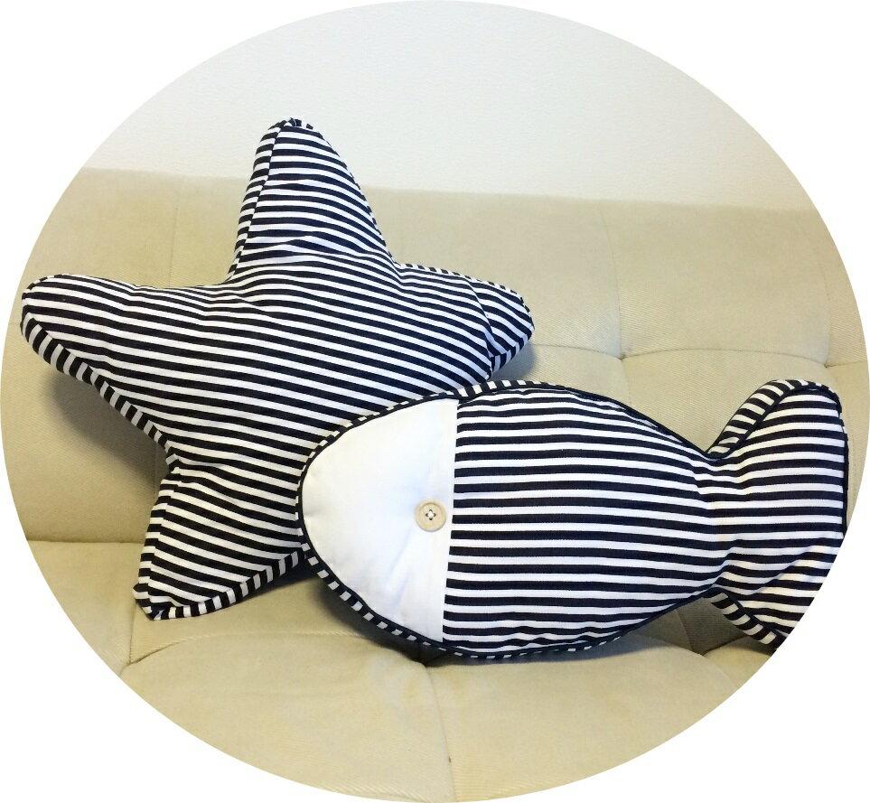クッション クッションカバー 星 魚 マリン ストライプ スター プール ビーチ 送料無料