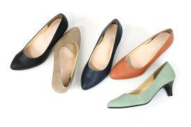 【お買い得レインアイテム】とんがりプレーンパンプスMD00529 レインパンプス ヒール レインシューズ パンプス 6cm レディース 雨の日 靴 雨 maRe maRe (マーレマーレ)