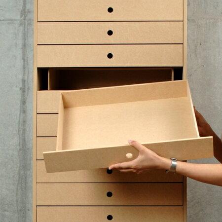 書類用引き出し収納・A3サイズ・14段(引出し収納・引出収納・書類収納・書類ケース・書類棚・書類整理棚・書類ラック・マップケース・図面棚・オフィス家具・木製・おしゃれ・デザイン・送料無料)/DRW-A3-14/Drawerシリーズ/マルゲリータ