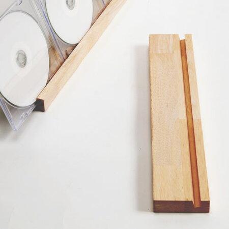 CDスタンド(薄型プラケース用)・ショートタイプ(CDディスプレイスタンド・CDラック・CD収納・ジャケット・展示・卓上収納・木製・デザイン・おしゃれ)/CDST-02/RWシリーズ/マルゲリータ