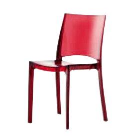 遠藤照明 家具 椅子 プラスチックチェア B-SIDE(クリアレッド)チェア/チェアー/CHAIR/イス MYC0605CR AbitaStyle(アビタスタイル) /マルゲリータ