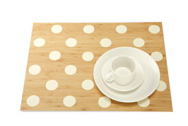 TEORI テオリ 美しい竹の家具 竹集成材のTEORI(テオリ)PLACE MAT  DR(プレイスマット ドットランダム)乳白