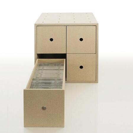CDラック大容量おしゃれ木製収納ボックス・BLC-08-TA(CD収納)/マルゲリータ