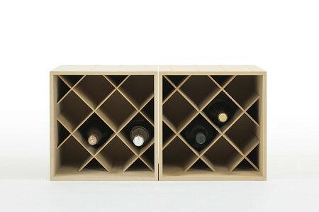 ワインラック8本用ブルゴーニュ型・シャンパン型ボトル対応木製(ワイン収納ボックスワインボックスワイン箱ワイン木箱ワインセラーワイン収納ケースワイン保管ワイン保存ワイン収納箱)BLC-08-W2/マルゲリータ