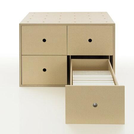 DVD収納ボックス引き出し木製(DVDラックDVDラックDVDボックスDVD収納DVDケース収納ケース収納box収納ラック収納箱収納棚カラーボックスストレージボックスキューブボックスキューブボックススタッキングラック)BLC-12-TA/マルゲリータ