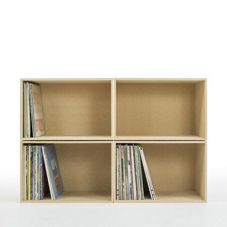 レコードラックレコード収納収納ボックス木製(LPレコード12インチレコード棚レコード収納棚レコード収納レコードラックレコード収納棚収納ボックス収納box)BLC-12/マルゲリータ