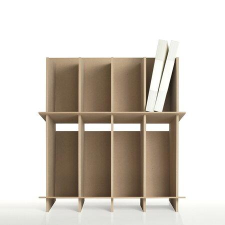 ファイルスタンド高さ600ワイドタイプ木製(A4ファイル棚ファイル整理棚ファイル収納棚本棚ブックスタンドデスクサイド収納ラック)CRT-FS-600W/マルゲリータ
