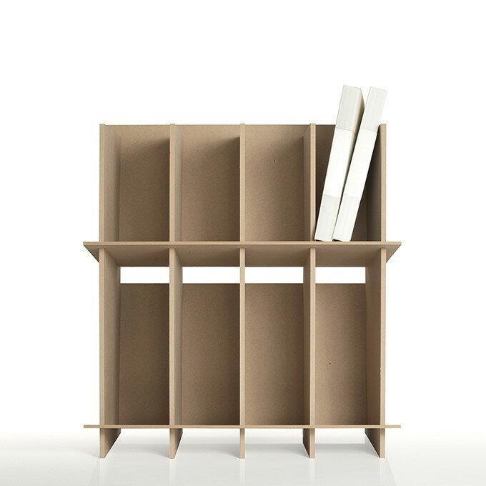 ファイルスタンド 高さ600ワイドタイプ 木製(A4 ファイル棚 ファイル整理棚 ファイル収納棚 本棚 ブックスタンド デスクサイド 収納ラック 大容量)CRT-FS-600W /マルゲリータ