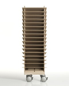 書類トレー A4 高さ900mmタイプ キャスター付き 木製(書類トレイ 書類ケース 書類収納 書類ラック 書類棚 書類入れ 書類整理棚 書類チェスト カタログスタンド カタログラック オフィス家具