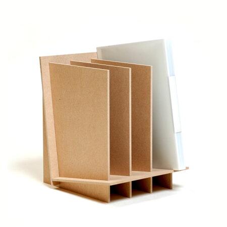 ファイルスタンドA43連木製(ファイルラック書類収納ラック卓上ラック机上ラックデスクラック卓上本棚机上本棚卓上本棚机上本棚卓上棚机上棚卓上棚机上棚卓上収納机上収納卓上収納机上収納卓上整理机上整理自作DIY)CRT-FS-03/マルゲリータ