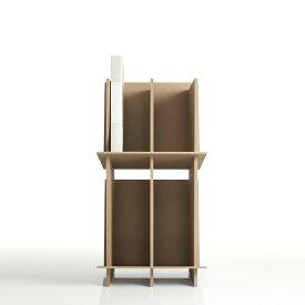 ファイルスタンド 高さ600mmタイプ 木製(A4 ファイル棚 ファイル整理棚 ファイル収納棚 本棚 ブックスタンド デスクサイド 収納ラック)CRT-FS-600/マルゲリータ