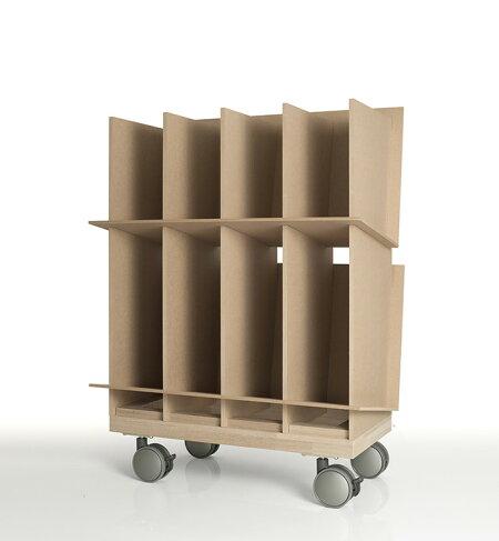 ファイルスタンド高さ600ワイドタイプ木製キャスター付き(A4ファイル棚ファイル整理棚ファイル収納棚本棚ブックスタンドデスクサイド収納ラックワゴン収納)CRT-FS-600W-SET-01/マルゲリータ