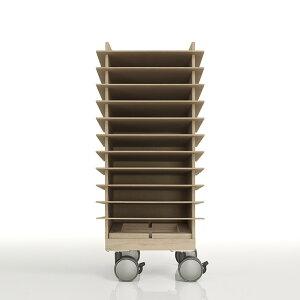 書類トレー A4 高さ600mmタイプ キャスター付き 木製(書類トレイ 書類ケース 書類収納 書類ラック 書類棚 書類入れ 書類整理棚 書類チェスト カタログスタンド カタログラック オフィス家具