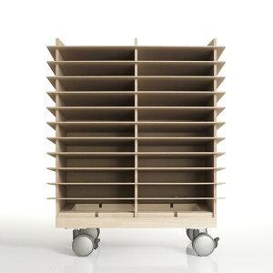 書類トレー A4 高さ600ワイドタイプ キャスター付き 木製(書類トレイ 書類ケース 書類収納 書類ラック 書類棚 書類入れ 書類整理棚 書類チェスト カタログスタンド カタログラック オフィス
