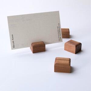 KIMURA WOODCRAFT FACTORY りんごの木のカード立て(4個セット) 木村木品製作所