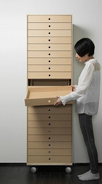書類収納棚A3引き出し木製14段(書類棚書類整理棚書類ケース書類ラック書類入れ書類チェストキャビネット引出し収納オフィス家具大容量マップケース図面棚)DRW-A3-14/マルゲリータ