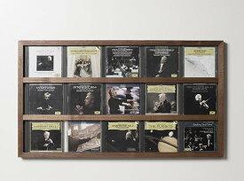 CDジャケットフレーム 5連×3段タイプ FR-CD-03/ FRAME(CDを壁に飾る木製額縁 木枠 無垢材)
