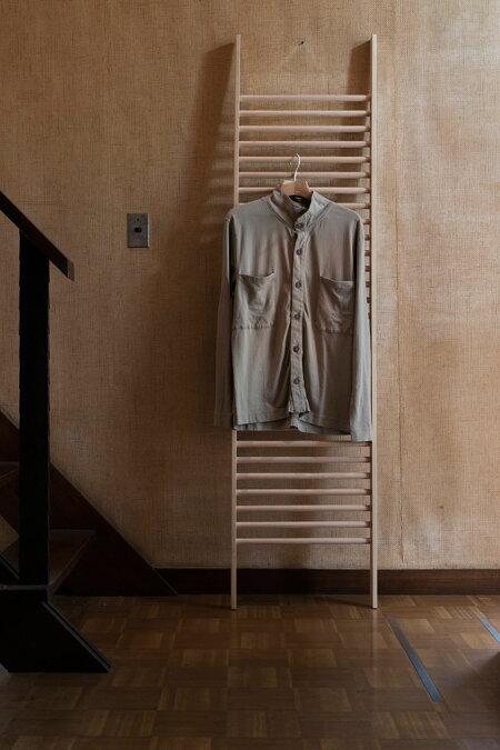 ラダーラック木製BONE(おしゃれラダーシェルフ壁面収納ネクタイハンガーネクタイ掛け収納ラック壁掛け壁壁面デザインインテリア送料無料)BONE-01/マルゲリータ