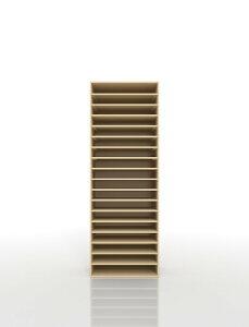 楽譜棚 楽譜 ピアノ A3 18段 木製(書類収納棚 書類整理棚 書類ラック 書類ケース 書類トレー 書類入れ マップケース 図面棚 オフィス家具 大容量 送料無料)/PNO-A3-18 /マルゲリータ