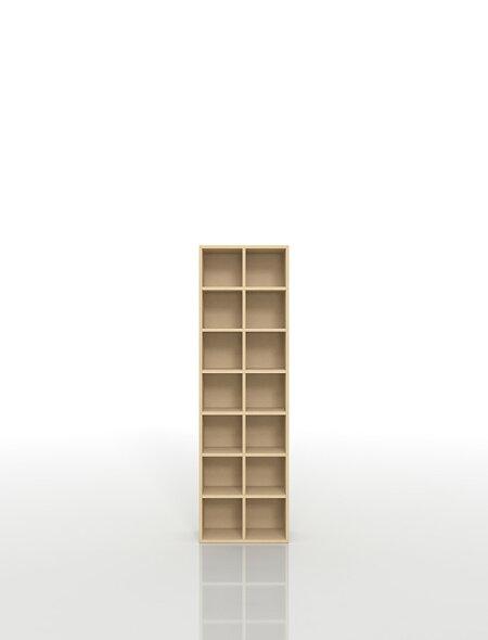 CDラック大容量おしゃれCD棚2列×7段木製(CD収納ラックCD収納棚CDラック薄型省スペースコンパクトタワー大容量大量オフィス家具デザインシンプル送料無料)/PNO-CD-14/マルゲリータ