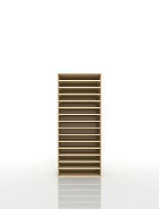 書類棚 A3 15段 木製(書類収納棚 書類整理棚 書類ラック 書類ケース 書類トレー 書類入れ マップケース 図面棚 オフィス家具 大容量 送料無料)/PNO-A3-15 /マルゲリータ