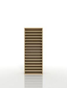 書類棚 A3 16段 木製(書類収納棚 書類整理棚 書類ラック 書類ケース 書類トレー 書類入れ マップケース 図面棚 オフィス家具 大容量 送料無料)/PNO-A3-16 /マルゲリータ
