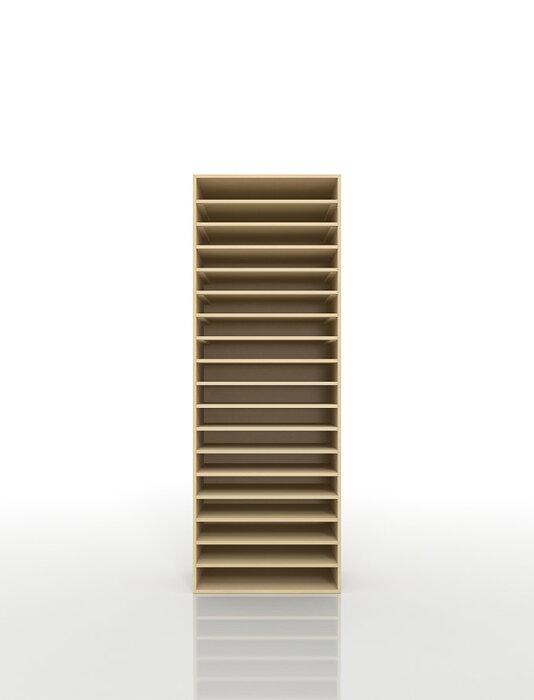 書類棚A318段木製(書類収納棚書類整理棚書類ラック書類ケース書類トレー書類入れマップケース図面棚オフィス家具送料無料)/PNO-A3-18/マルゲリータ