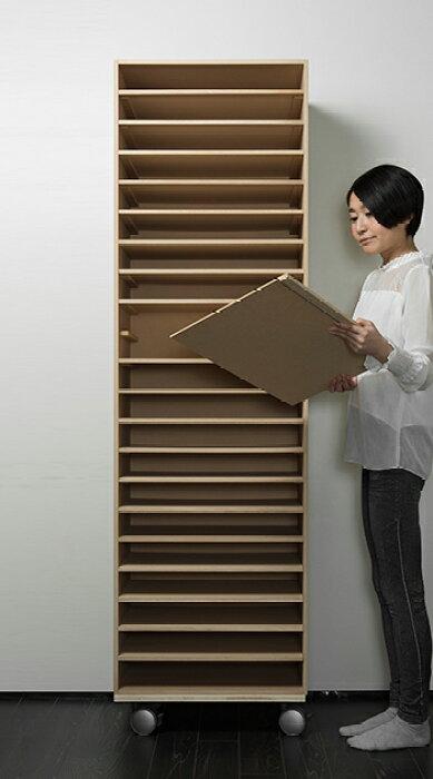 書類棚A318段木製(書類収納棚書類整理棚書類ラック書類ケース書類トレー書類入れマップケース図面棚オフィス家具大容量送料無料)/PNO-A3-18/マルゲリータ