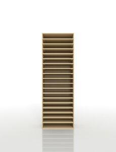 書類棚 A3 19段 木製(書類収納棚 書類整理棚 書類ラック 書類ケース 書類トレー 書類入れ マップケース 図面棚 オフィス家具 大容量 送料無料)/PNO-A3-19 /マルゲリータ