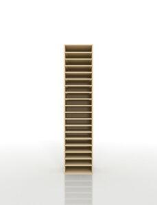 書類棚 A4 19段 木製(書類収納棚 書類整理棚 書類ラック 書類ケース 書類トレー 書類入れ 書類チェスト 書類ボックス オフィス家具 大容量 送料無料)/PNO-A4-19 /マルゲリータ