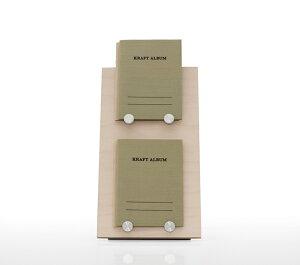 ブックスタンド 2段 木製 W250 可動ボルトタイプ(本立て 本たて 本台 マガジンラック 本 雑誌 カタログ パンフレット 資料 ディスプレイ ラック ディスプレイラック 展示 ラック 展示ラック