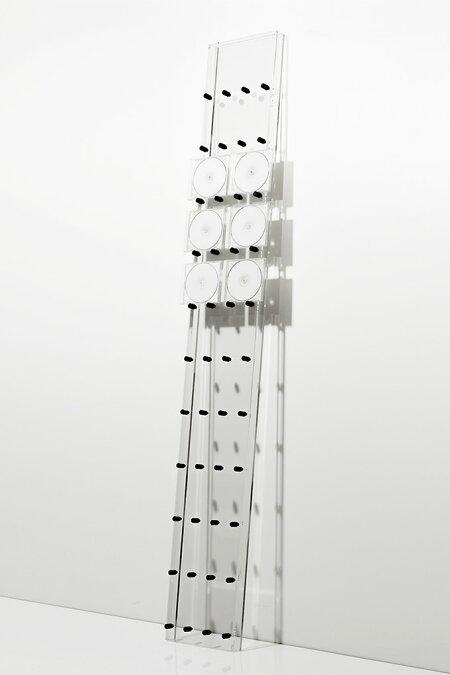 CDラック大容量おしゃれCDラックアクリル製(CDを飾るCDディスプレイラックディスプレー展示見せる収納おしゃれデザインインテリア壁掛け)CD-06-A/マルゲリータ