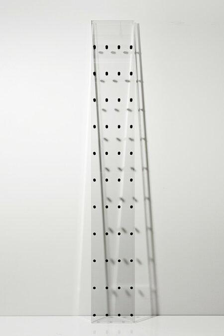 CDラックおしゃれ大容量ラックアクリル製(CD-RACKCDを飾るCDディスプレイラックディスプレー展示透明見せる収納おしゃれデザインインテリア壁掛け)CD-06-A