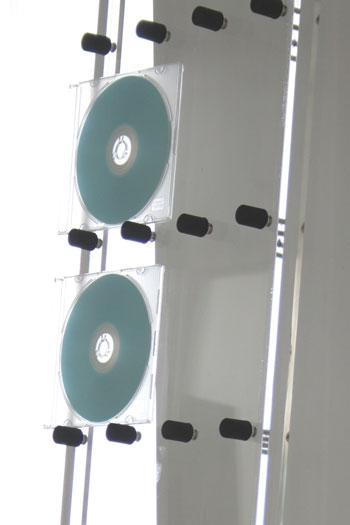 CDラックおしゃれ大容量ラックアクリル製(CD-RACKCDを飾るCDディスプレイラックディスプレー展示透明見せる収納おしゃれデザインインテリア壁掛け壁壁面)CD-06-A/マルゲリータ