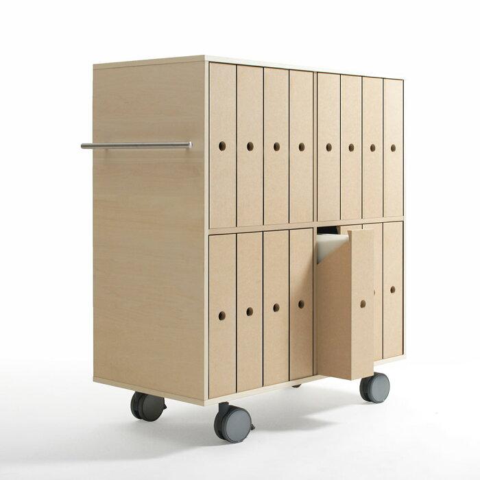 ファイルボックス収納カート/収納箱タイプ・16杯【送料無料】【P0622】
