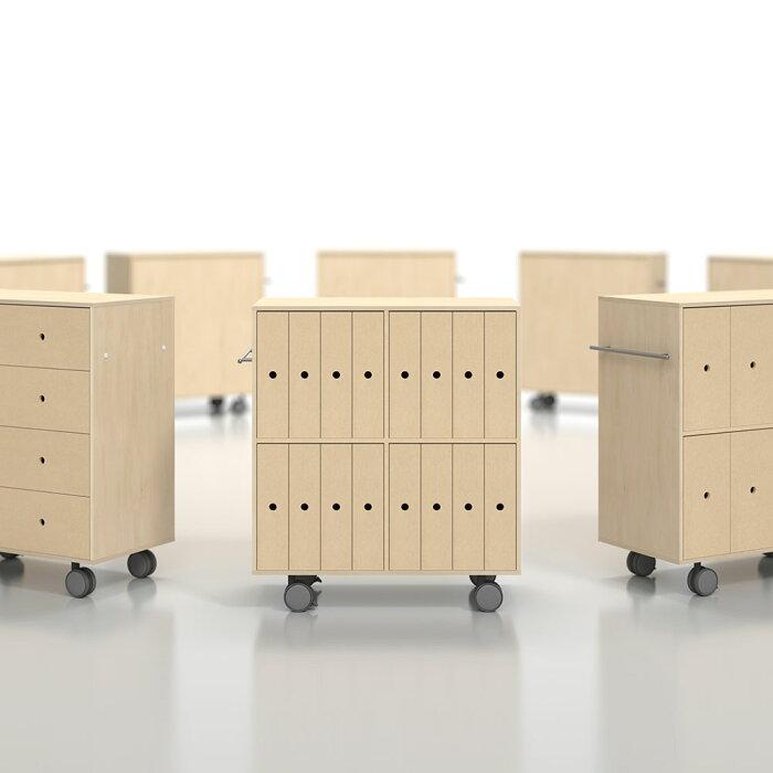 キャスター付き収納ファイルボックス引き出し16杯木製(ファイルワゴンファイルケースボックスファイル書類ボックスおしゃれインテリア引出し収納可動棚大容量)SC-V-16/マルゲリータ