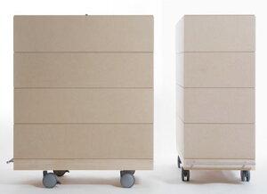 A4書類収納箱・4段セット/大・深めタイプ(キャスター付き収納ボックス・キャスター・可動式・移動式・収納ケース・収納ラック・木製・大容量・送料無料)(BLC-16H×4・BLC-16-RO×8・SCS-16-C×1