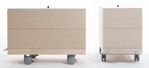 ワイン収納箱・2段セット/大・深めタイプ(キャスター付き収納ボックス・キャスター・可動式・移動式・収納ケース・収納ラック・木製・大容量・送料無料)(BLC-16H×2・BLC-16-WB×4・SCS-16-C×