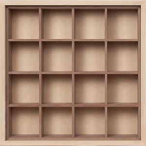 小物/衣類収納箱/小・浅め(小物収納ボックス・小物収納ケース・小物収納ラック・小物ラック・木製)(BLC-04H×1・BLC-16-XL×1)/マルゲリータ