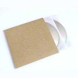 CDジャケット 厚紙製 クラフト茶 背付き 100枚セット(CD用ジャケット CDカバー CDケース CD収納 紙ジャケット 保護袋 保護カバー CD整理 CD保存 CD保管 CD用品) /マルゲリータ