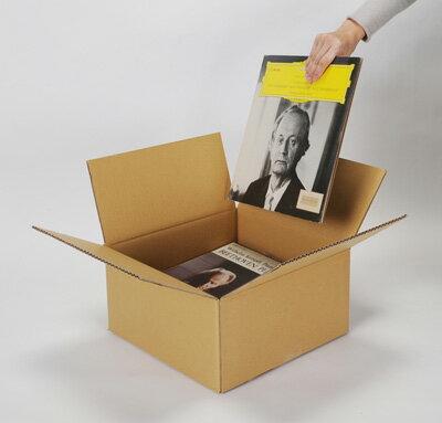 LPレコード段ボール箱 30枚用 平置き 10箱セット(LP用 12インチレコード ダンボール箱 段ボールBOX ダンボールBOX 段ボールボックス ダンボールボックス レコード収納ボックス レコード収納BOX 収納箱 保管箱 保存箱) /マルゲリータ