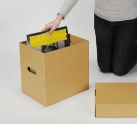 LP用蓋付きBOXセット クラフト茶 5箱セット(LP用 12インチレコード ダンボールボックス 段ボールBOX ダンボールBOX 段ボール箱 ダンボール箱 段ボール収納 ダンボール収納 収納ボックス 収納BOX フタ付き) /マルゲリータ